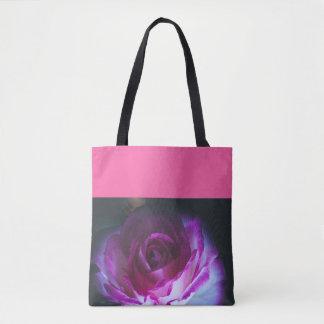 Beautiful rose flower tote bag