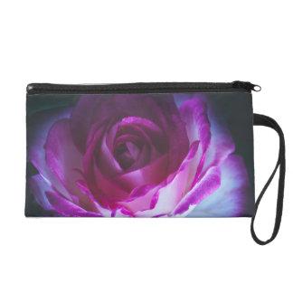 Beautiful rose flower wristlet clutch