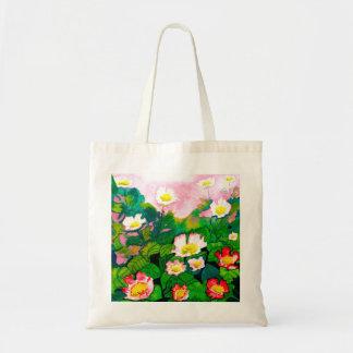 Beautiful Rose Garden Watercolour Budget Tote Bag