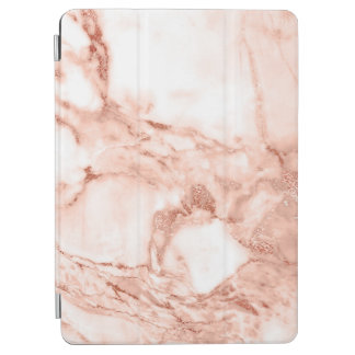 Beautiful Rose Gold Sparkle Faux Marble Pattern
