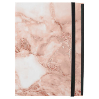 """Beautiful Rose Gold Sparkle Faux Marble Pattern iPad Pro 12.9"""" Case"""
