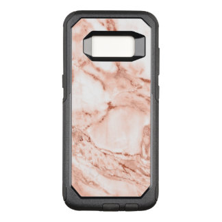 Beautiful Rose Gold Sparkle Faux Marble Pattern OtterBox Commuter Samsung Galaxy S8 Case