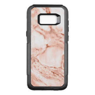 Beautiful Rose Gold Sparkle Faux Marble Pattern OtterBox Commuter Samsung Galaxy S8+ Case