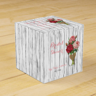 Beautiful Rose Mason Jar Bridal Shower Favor Box