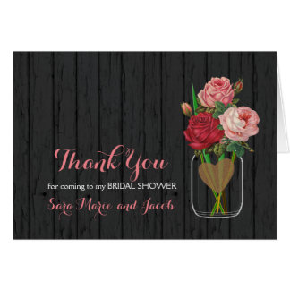 Beautiful Rose Mason Jar Design Card