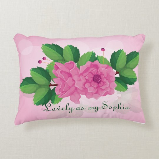 Beautiful rose pillow