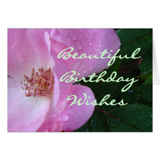 Beautiful Rose Wishes-customize any occasion Card