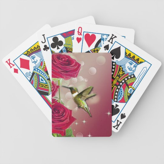 Beautiful Roses & Bird Bicycle Playing Cards