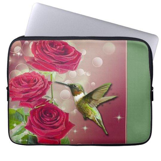 Beautiful Roses & Bird Laptop Sleeve