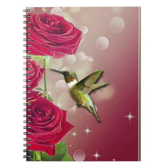 Beautiful Roses & Bird Notebooks