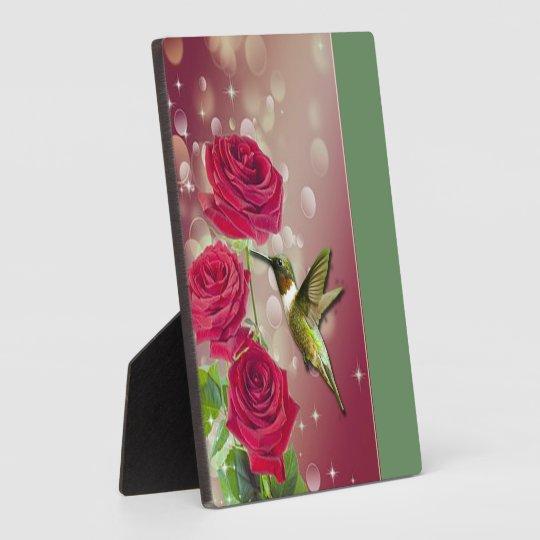 Beautiful Roses & Bird Plaque