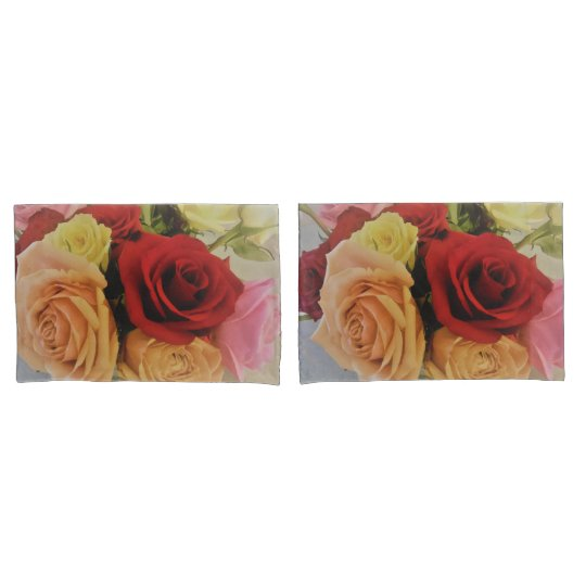 Beautiful Roses Photo Print Design Pillowcase