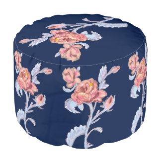 Beautiful roses, Sturdy Spun Polyester Round Pouf