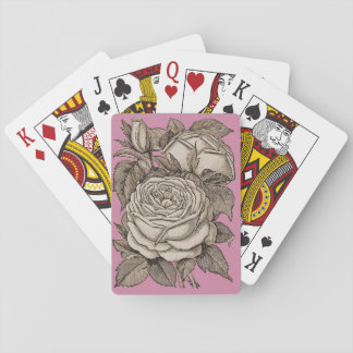 Beautiful Roses Tattoo Style Playing Cards