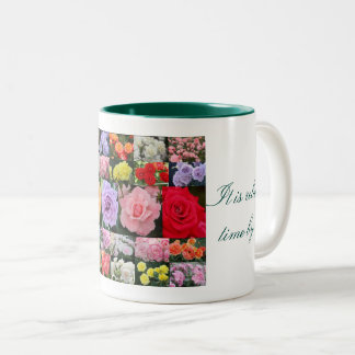 Beautiful Roses Two-Tone Coffee Mug
