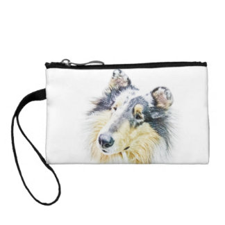 Beautiful Rough Collie dog art Coin Purse