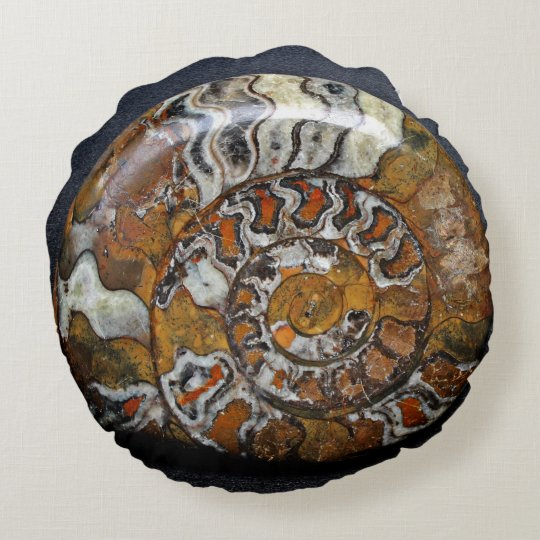 Beautiful Round Snail Shell Throw Pillow