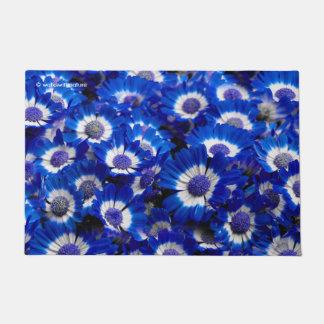 Beautiful Royal Blue Cineraria Flowers Doormat