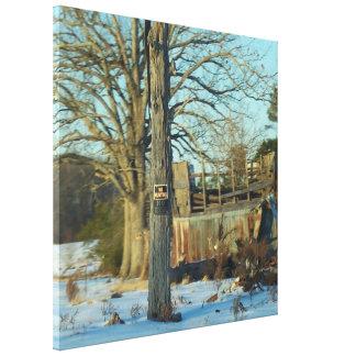 Beautiful Rural Snow Scene Canvas Print