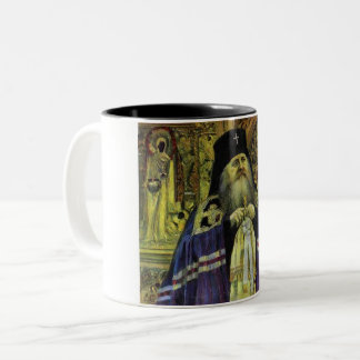 Beautiful Russian Orthodox Painting Two-Tone Coffee Mug