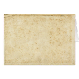 Beautiful Rustic Stained Antique Blank Old Paper Card
