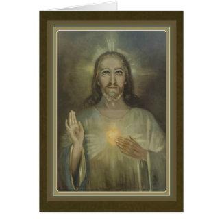 Beautiful Sacred Heart of Jesus Greeting Card