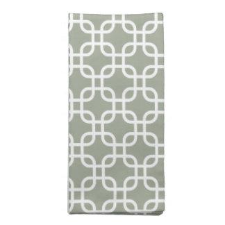 Beautiful Sage Geometric Pattern Cloth Napkins
