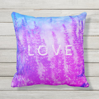 """Beautiful sage with text """"Love"""" outside pillow. Throw Pillow"""