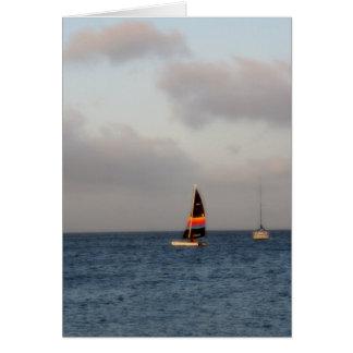 Beautiful Sail Boat Photograph Card
