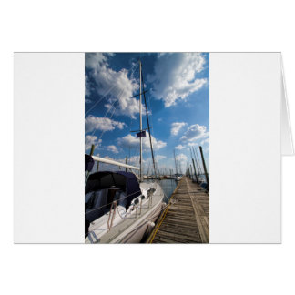 Beautiful Sailboat at Pier Card