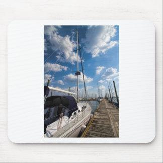 Beautiful Sailboat at Pier Mouse Pad