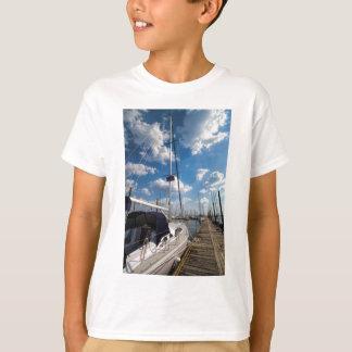 Beautiful Sailboat at Pier T-Shirt