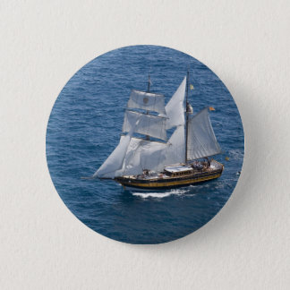 Beautiful sailing boat 2 inch round button