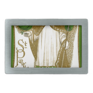 Beautiful saint patrick old poster belt buckles