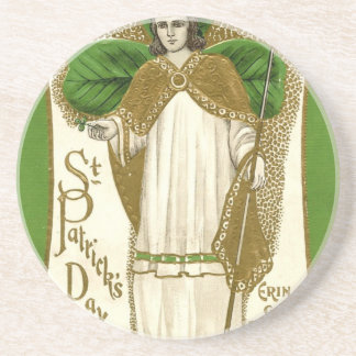 Beautiful saint patrick old poster beverage coaster