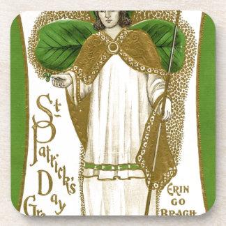 Beautiful saint patrick old poster coaster