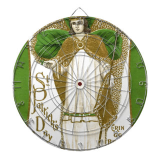Beautiful saint patrick old poster dartboard