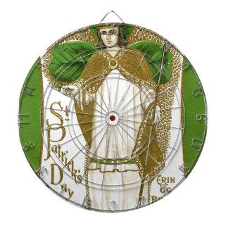 Beautiful saint patrick old poster dartboards