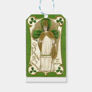 Beautiful saint patrick old poster gift tags