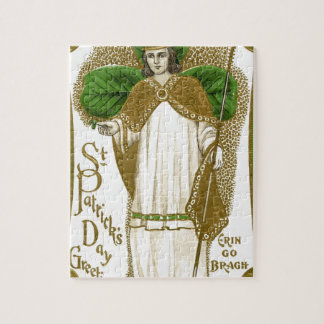 Beautiful saint patrick old poster jigsaw puzzle