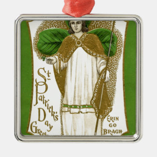 Beautiful saint patrick old poster metal ornament