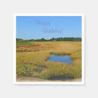 Beautiful Salt Water Marsh Paper Napkin