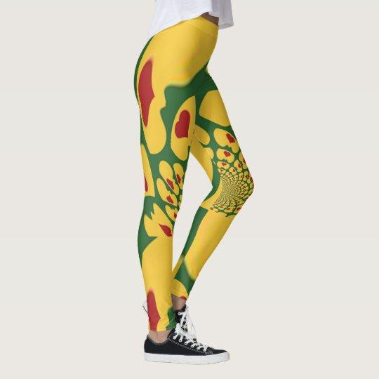 Beautiful  samba hearts polka dot abstract design leggings
