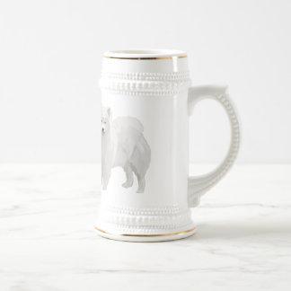 Beautiful Samoyed Beer Stein
