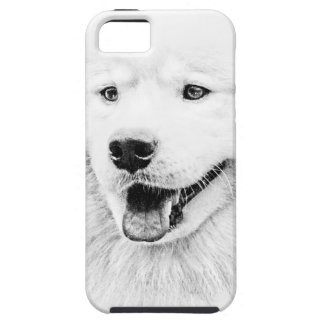 Beautiful Samoyed dog art iPhone 5 Covers