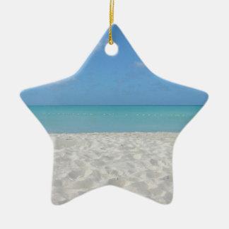 Beautiful Sandy Beach Ceramic Star Ornament