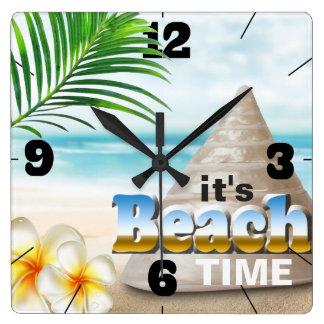 Beautiful Sandy Beach Seashell Wallclock