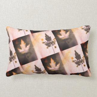 Beautiful Sangria Hue Unique Double Maple Leaf Art Lumbar Pillow