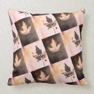 Beautiful Sangria Tone Original Art Maple Leaf Throw Pillow