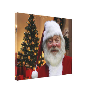 Beautiful Santa Claus Canvas Print